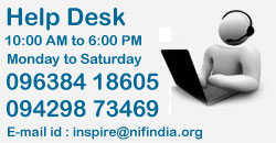 Help Desk 9:00 AM to 6:00 PM Monday to Saturday